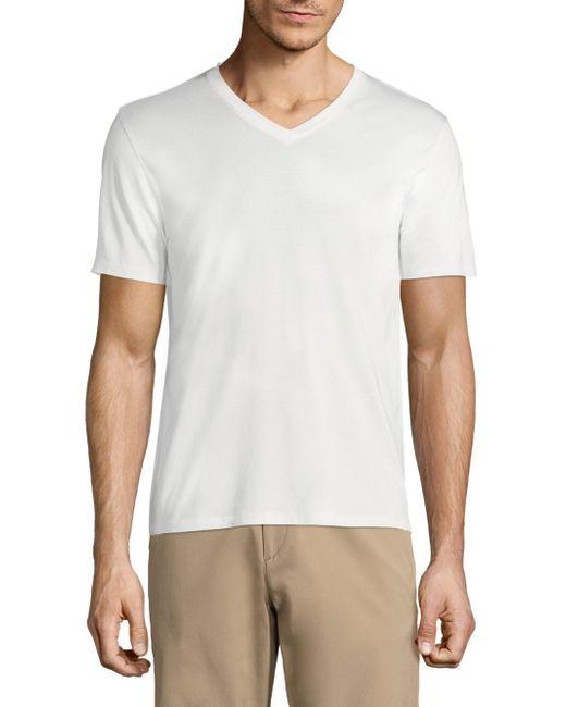 Theory - White Claey V-neck T-shirt for Men - Lyst