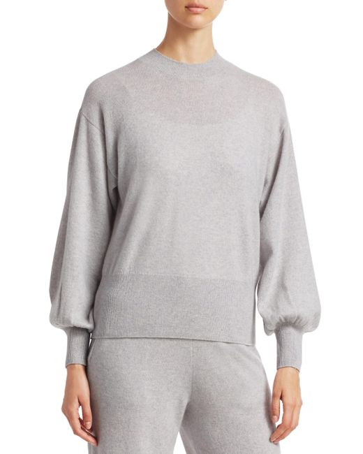 Saks Fifth Avenue - Gray Collection Cashmere Blouson Sleeve Sweater - Lyst