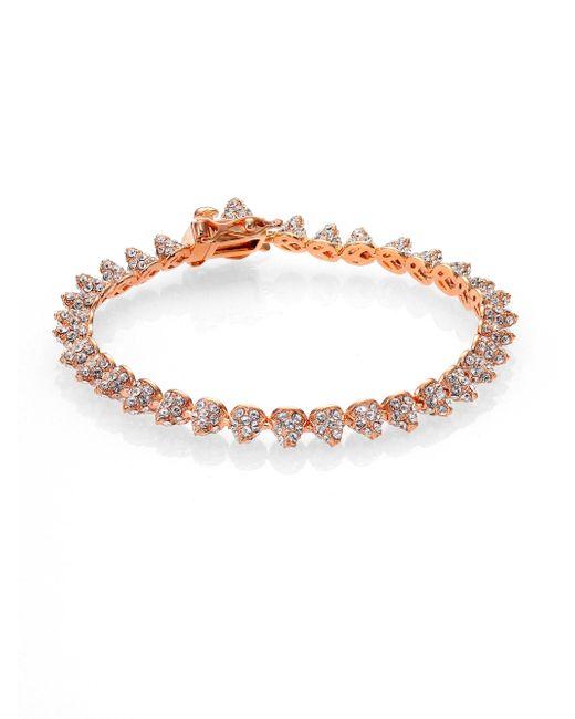 Eddie Borgo | Pink Pave Crystal Mini Cone Bracelet/rose Goldtone | Lyst