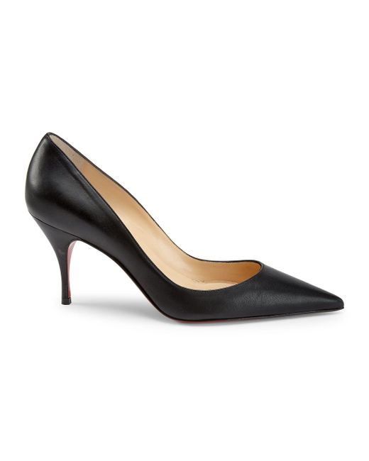 Christian Louboutin Black Clare Leather Pumps