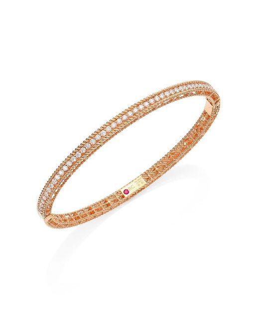 Roberto Coin Metallic Symphony Braided Diamond & 18k Rose Gold Bracelet
