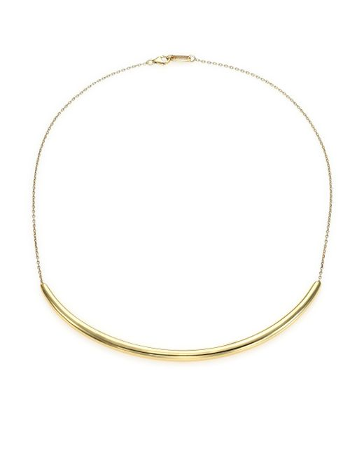 Ippolita | Metallic Glamazon 18k Yellow Gold Long Curved Bar Necklace | Lyst