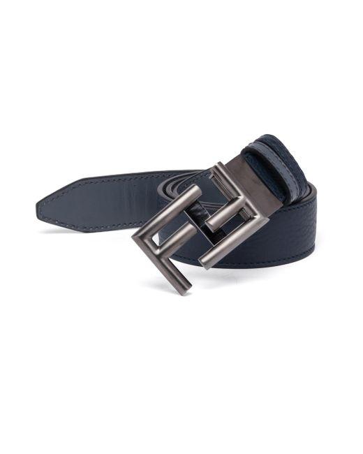 Fendi - Blue Pebble Leather Belt for Men - Lyst