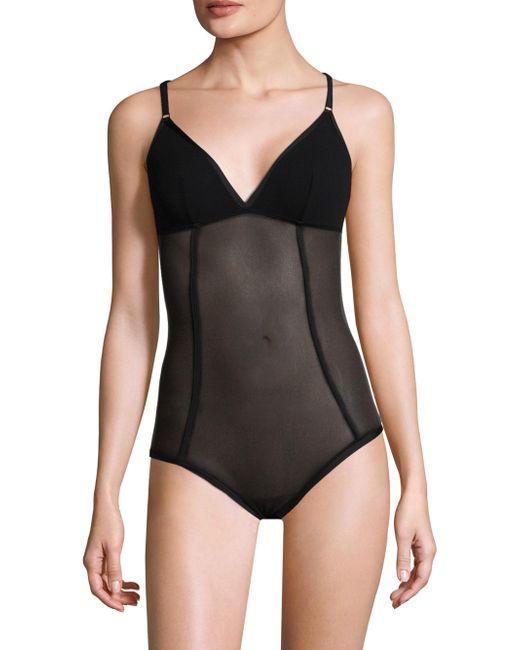 Cosabella - Black Verona Mesh Bodysuit - Lyst