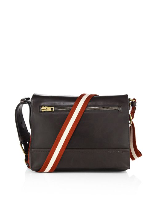Bally - Brown Tamrac Leather Messenger Bag for Men - Lyst