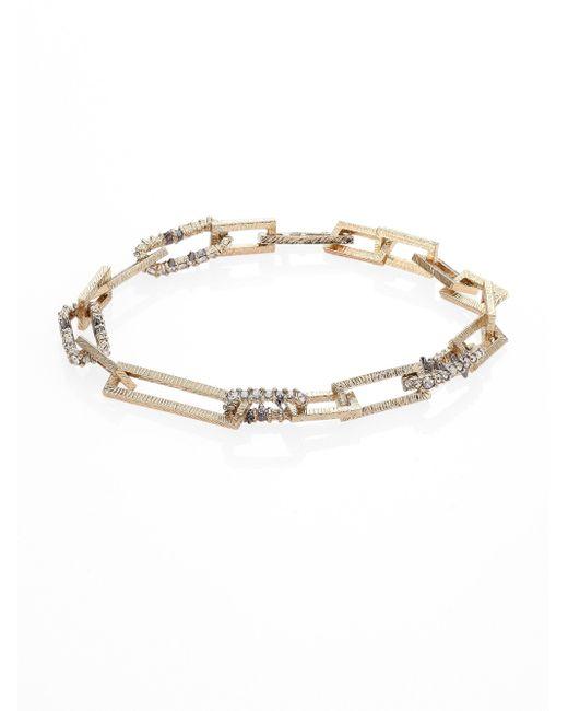 Alexis Bittar | Metallic Crystal-encrusted Soft Link Bracelet | Lyst