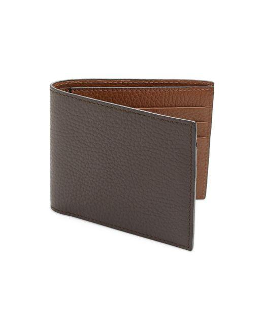 Saks Fifth Avenue | Brown Leather Bi-color Billfold Wallet for Men | Lyst