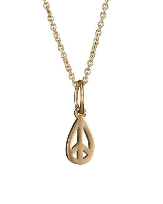 Sydney Evan - Metallic 14k Yellow Gold Peace Pendant Necklace - Lyst