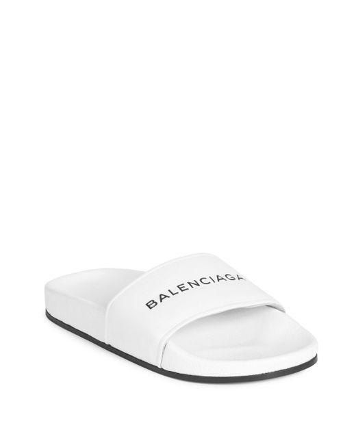 Balenciaga - White Pool Sandals - Lyst