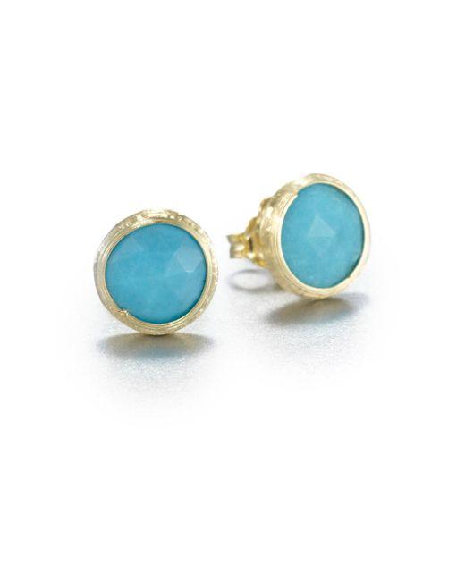 Marco Bicego | Metallic Jaipur Resort Turquoise & 18k Yellow Gold Stud Earrings | Lyst