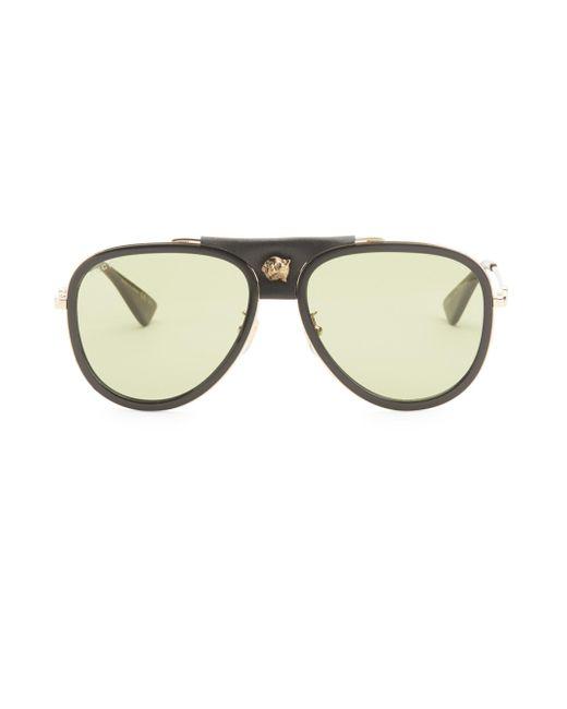 e0d799e011053 Gucci - Metallic 57mm Pilot Sunglasses for Men - Lyst ...