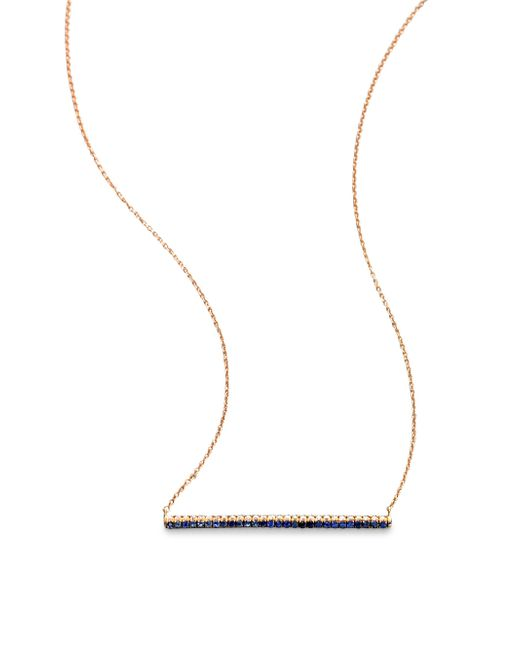 Diane Kordas | Pink Diamond, Sapphire & 18k Rose Gold Bar Necklace | Lyst