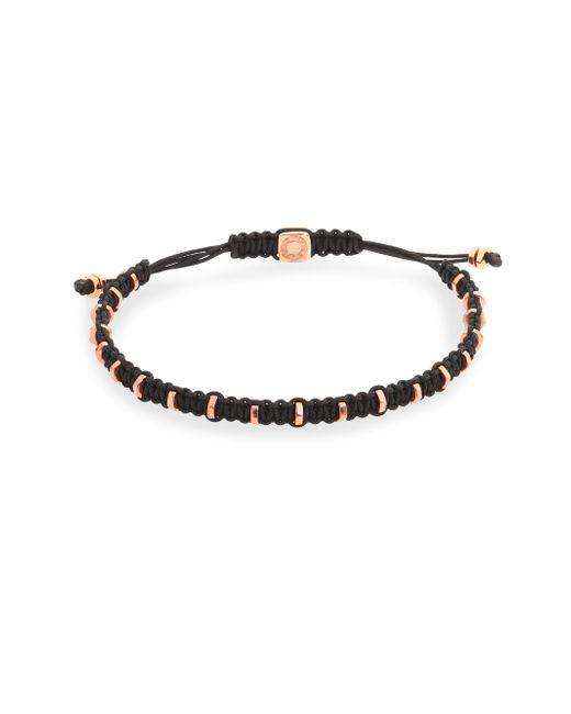 Tateossian | Black Macrame Silver Bracelet | Lyst