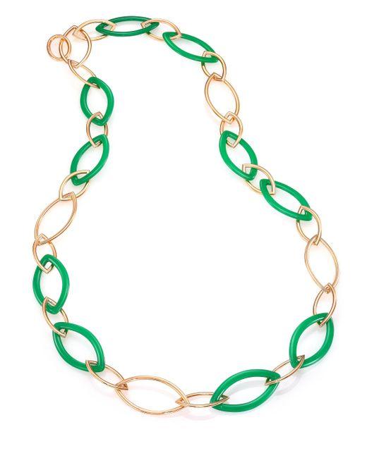 Vhernier - Metallic Pop Chrysoprase & 18k Rose Gold Marquis Chain Necklace - Lyst