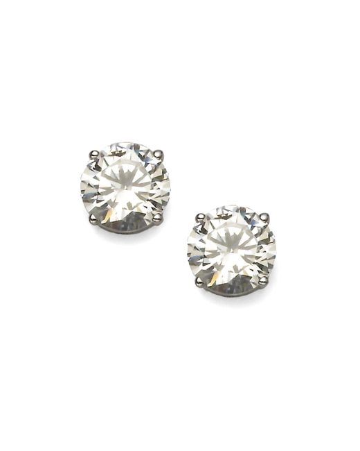 Adriana Orsini - Metallic Brilliant-cut Sterling Silver Stud Earrings - Lyst