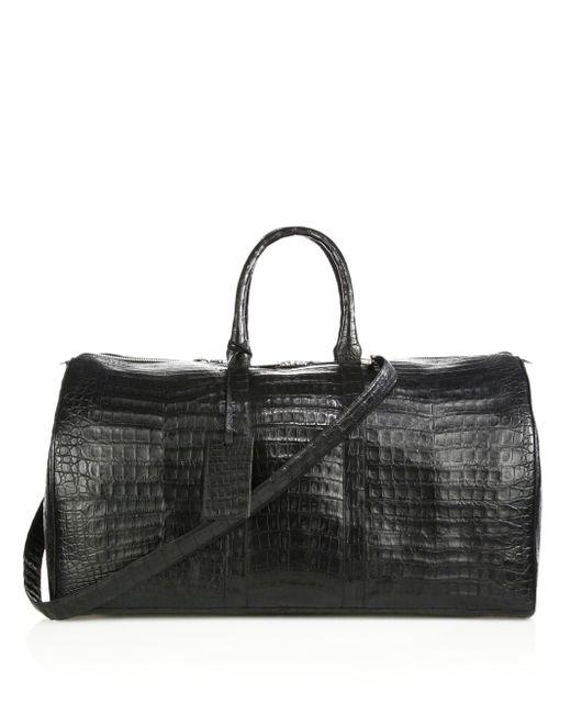 Santiago Gonzalez | Black Crocodile Weekender Bag | Lyst