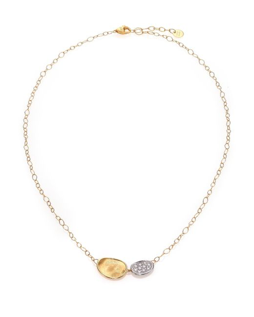 Marco Bicego - Metallic Lunaria Diamond & 18k Yellow Gold Necklace - Lyst