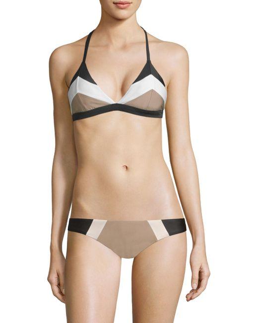 Pilyq - Multicolor Colorblock Triangle Bikini Top - Lyst