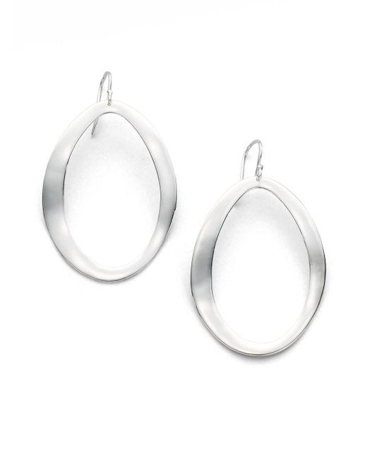 Ippolita - Metallic Glamazon Scultura Sterling Silver Large Wavy Oval Drop Earrings - Lyst