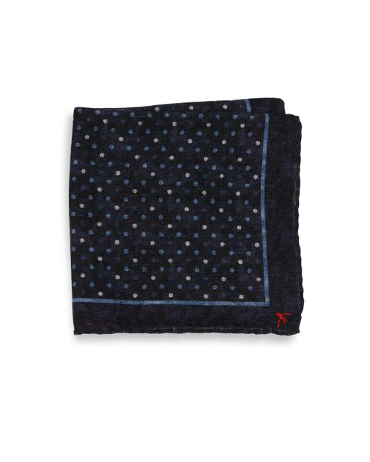 Isaia - Blue Polka Dot Pocket Square for Men - Lyst