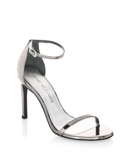 Stuart Weitzman | Multicolor Nudistsong Patent Leather Sandals | Lyst