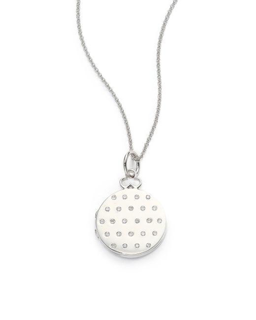 Devon Woodhill - Metallic 18k Polished White Gold & Diamond Jane Locket - Lyst