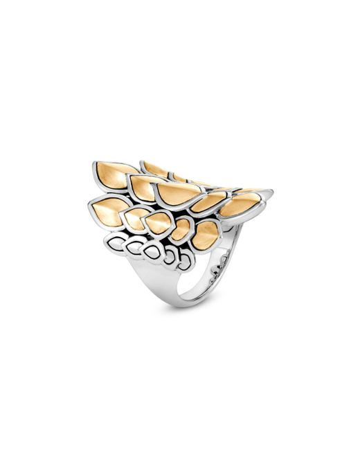 John Hardy - Metallic Legends Naga Large Gold & Silver Saddle Ring - Lyst