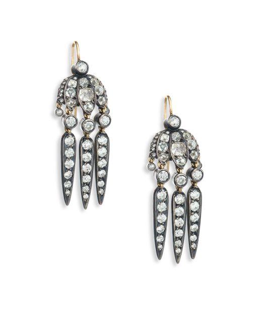Fred Leighton   Metallic Mini Dart Diamond Pendant Earrings   Lyst