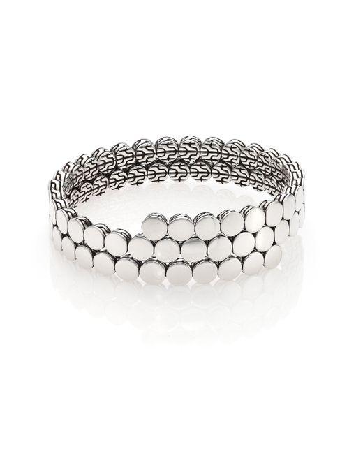 John Hardy - Metallic Dot Sterling Silver Double Coil Bracelet - Lyst