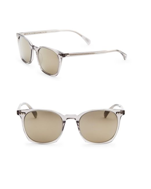 Oliver Peoples - Gray L.a Coen, 49mm, Square Sunglasses - Lyst
