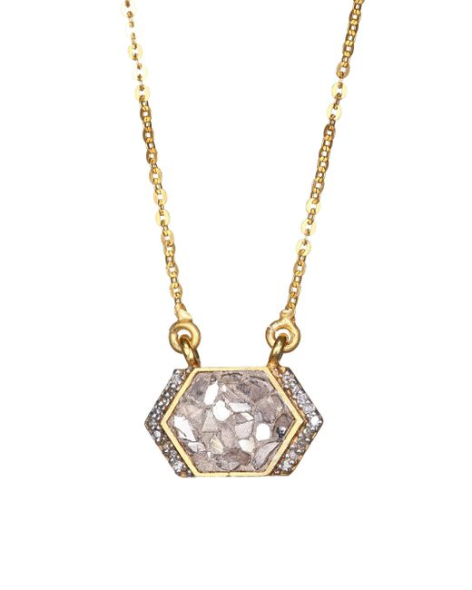 Shana Gulati - Metallic Neora 18k Gold, Diamond & Vermeil Pendant Necklace - Lyst