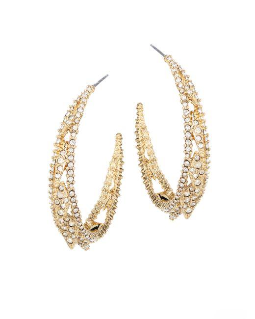 Alexis Bittar   Metallic Elements Crystal Hoop Earrings/1.5   Lyst