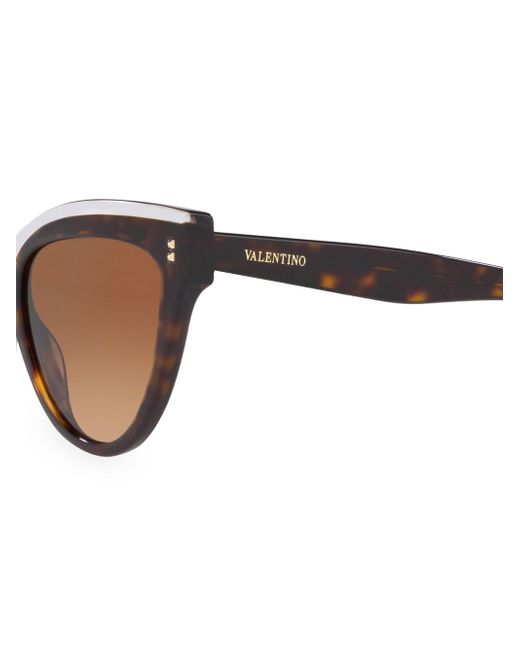 308428882e ... Valentino - Brown 54mm Havana Cat Eye Sunglasses - Lyst ...