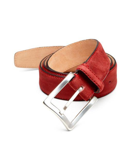 Hickey Freeman | Red Grain Nubuck Belt for Men | Lyst