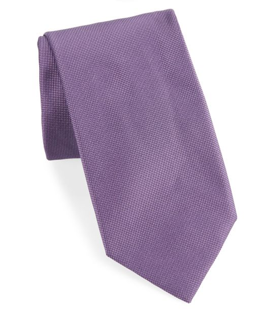 Breuer | Purple Textured Silk Tie for Men | Lyst