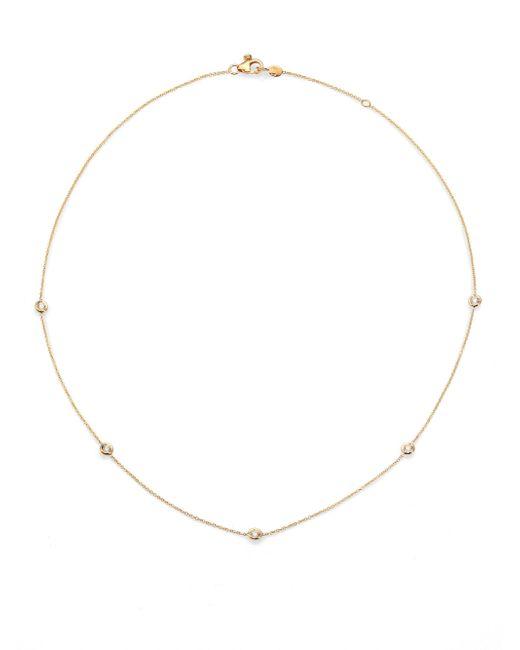 Roberto Coin | Metallic Diamond & 18k Yellow Gold Station Necklace/18 | Lyst