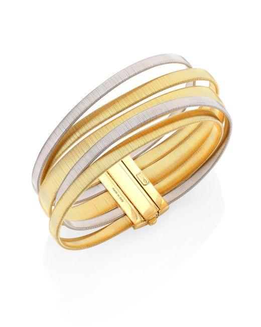Marco Bicego | Metallic Masai 18k Yellow & White Gold Five-strand Bracelet | Lyst