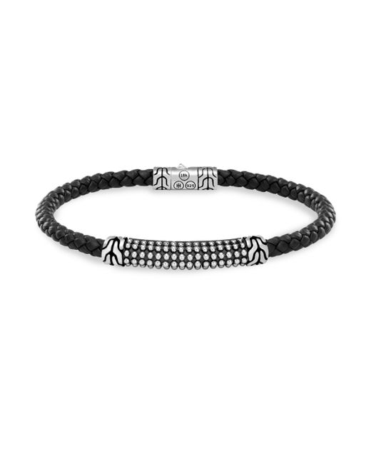 John Hardy | Black Silver Classic Braid Bracelet | Lyst