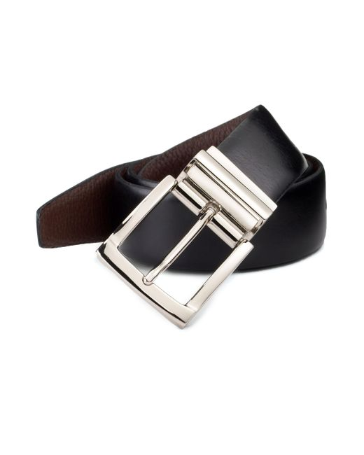 Saks Fifth Avenue - Black Reversible Leather Belt for Men - Lyst