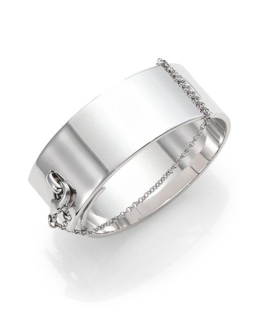 Eddie Borgo | Metallic Safety Chain Cuff Bracelet/silvertone | Lyst