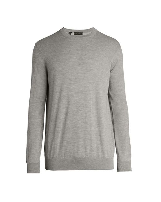 Saks Fifth Avenue Gray Collection Lightweight Cashmere Crewneck Sweater for men