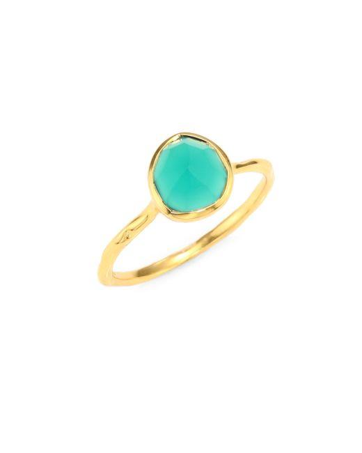 Monica Vinader | Metallic Siren Nugget Green Onyx Cocktail Ring | Lyst