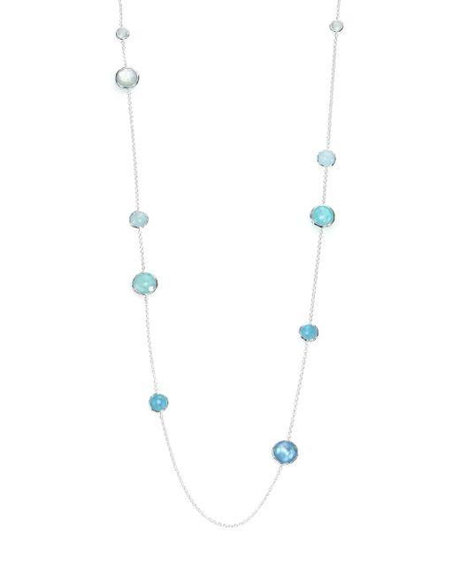 Ippolita   Metallic Rock Candy Aquamarine, Larimar, Blue Topaz, Mother-of-pearl & Sterling Silver Lollipop Station N   Lyst