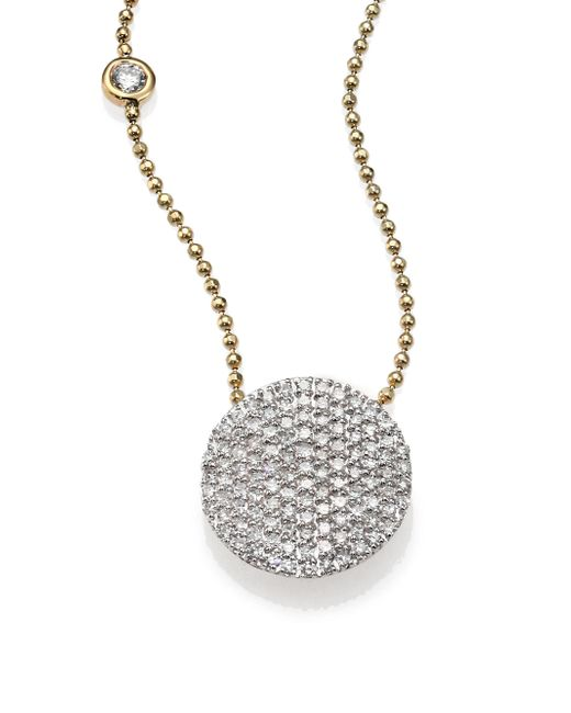 Phillips House - Metallic Affair Diamond & 14k Yellow Gold Infinity Bezel-accent Necklace - Lyst