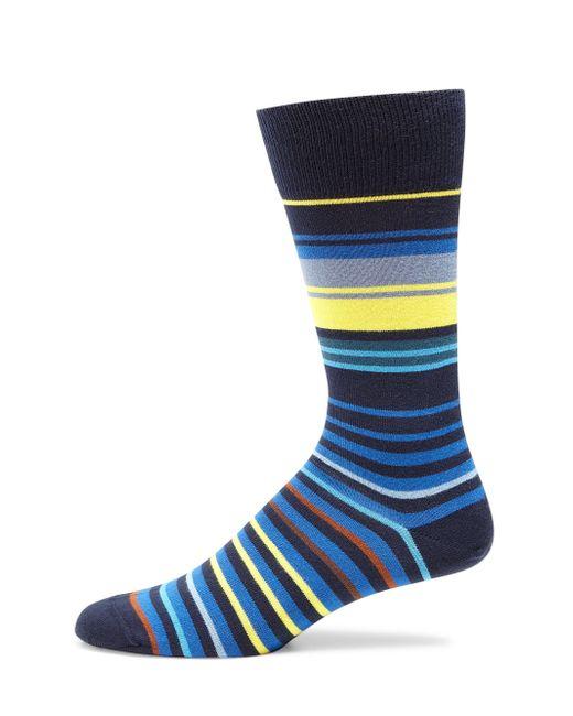 Paul Smith | Blue Woven Striped Socks for Men | Lyst