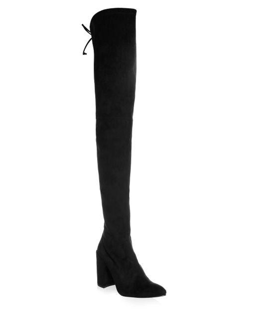 Stuart Weitzman | Black Alllegs Stretch-Suede Over-The-Knee Boots | Lyst
