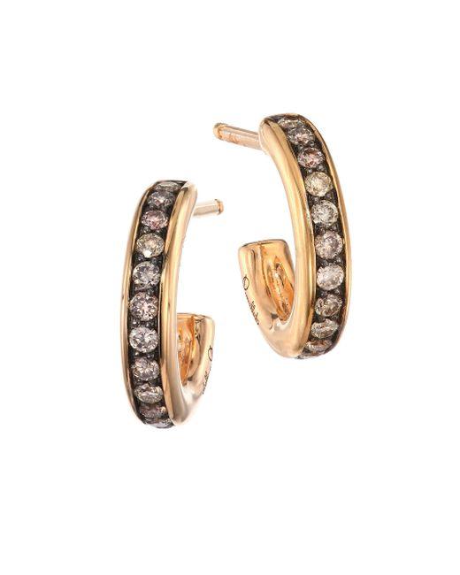 Pomellato - Metallic Iconica 18k Rose Gold & Brown Diamond Small Hoop Earrings - Lyst