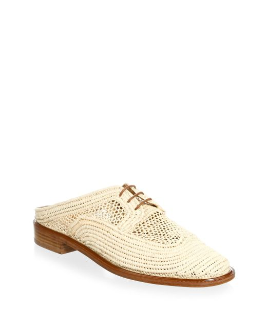Clergerie Natural Jaly Raffia Mules