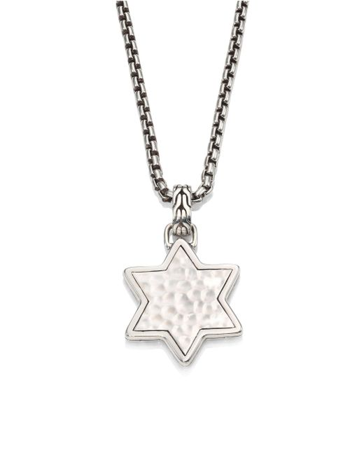 John Hardy - Metallic Classic Chain Collection Star Pendant Necklace - Lyst