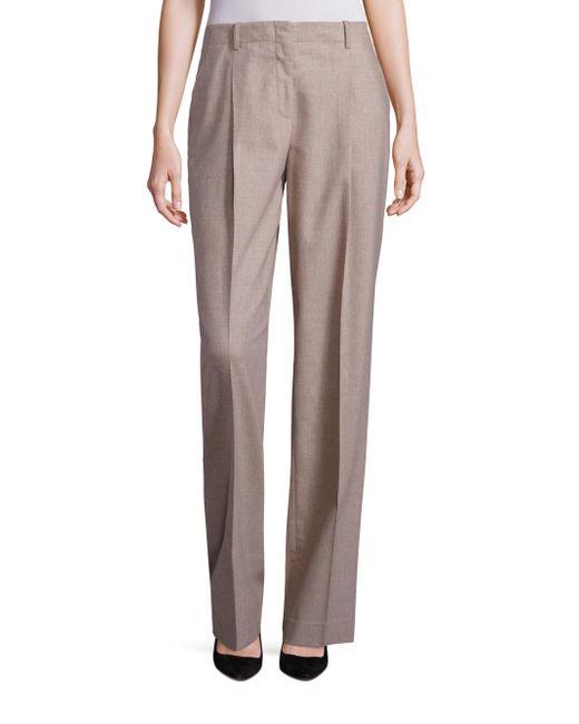 Lafayette 148 New York - Multicolor Rivington Finite Italian Flannel Wide-leg Pants - Lyst